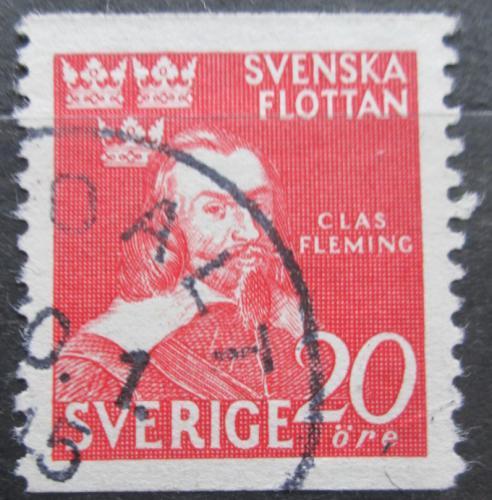 Poštovní známka Švédsko 1944 Admirál Claes Fleming Mi# 307 A