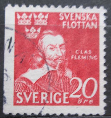 Poštovní známka Švédsko 1944 Admirál Claes Fleming Mi# 307 Dl