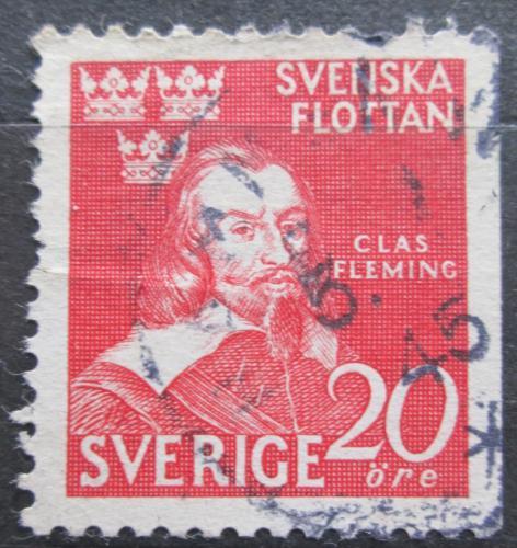 Poštovní známka Švédsko 1944 Admirál Claes Fleming Mi# 307 Dr