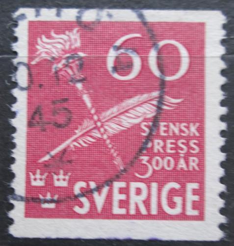 Poštovní známka Švédsko 1945 Denní tisk, 300. výroèí Mi# 312 A