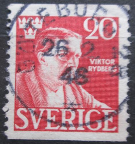 Poštovní známka Švédsko 1945 Viktor Rydberg, filozof Mi# 314 A