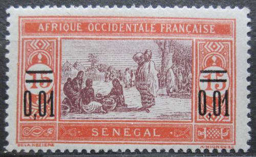 Poštovní známka Senegal 1922 Tržnice pøetisk Mi# 87