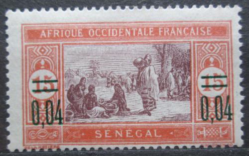 Poštovní známka Senegal 1922 Tržnice pøetisk Mi# 89