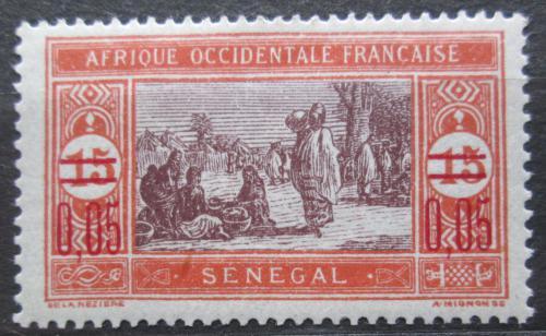 Poštovní známka Senegal 1922 Tržnice pøetisk Mi# 90