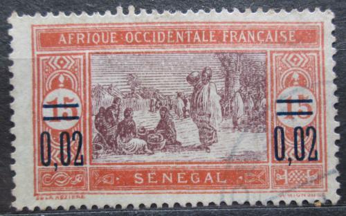 Poštovní známka Senegal 1922 Tržnice pøetisk Mi# 88