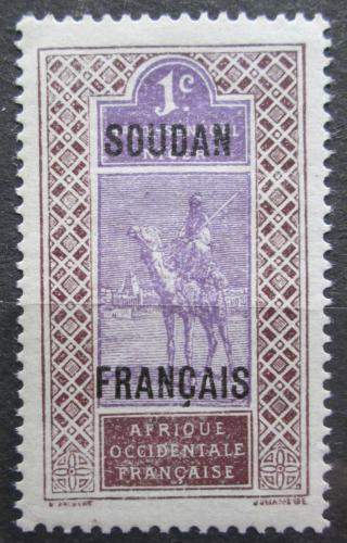 Poštovní známka Francouzský Súdán 1921 Tuareg na velbloudovi Mi# 20