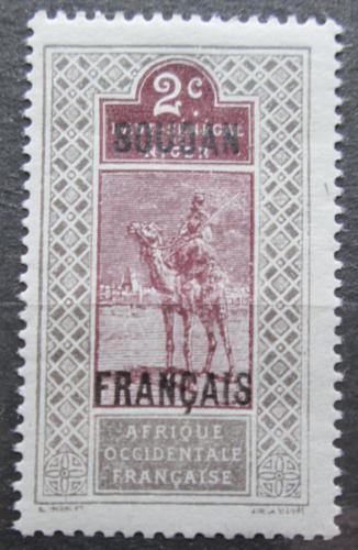 Poštovní známka Francouzský Súdán 1921 Tuareg na velbloudovi Mi# 21