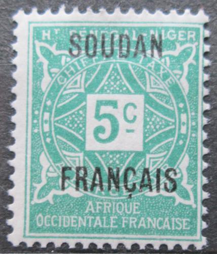 Poštovní známka Francouzský Súdán 1921 Doplatní Mi# 1