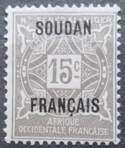Poštovní známka Francouzský Súdán 1921 Doplatní Mi# 3