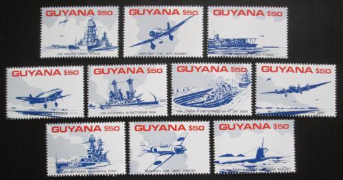 Poštovní známky Guyana 1991 Útok na Pearl Harbor Mi# 3748-57 Kat 22€