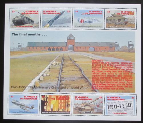 Poštovní známky Svatý Vincenc 1995 Konec války, 50. výroèí Mi# 3093-3100 Kat 13€