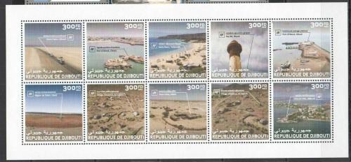 Poštovní známky Džibutsko 2017 Turistické zajímavosti TOP SET Mi# 1946-55 Kat 30€