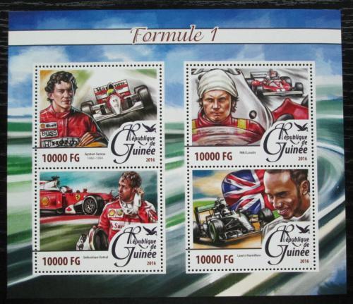 Poštovní známky Guinea 2016 Závodníci Formule 1 Mi# 11701-04 Kat 16€
