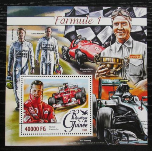 Poštovní známka Guinea 2016 Závodníci Formule 1 Mi# Block 2636 Kat 16€