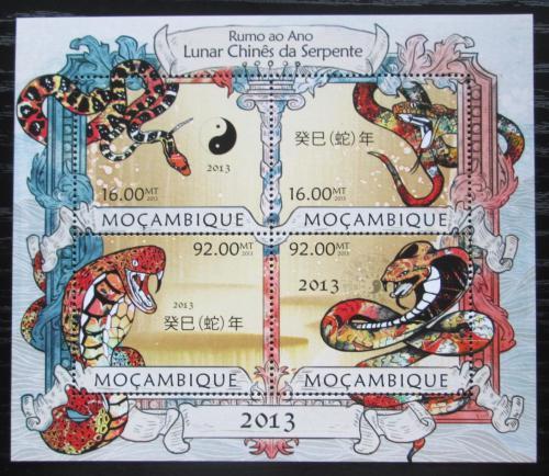 Poštovní známky Mosambik 2013 Èínský nový rok, rok hada Mi# 6389-92 Kat 13€