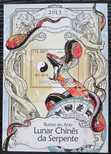 Poštovní známka Mosambik 2013 Èínský nový rok, rok hada Mi# Block 729 Kat 10€