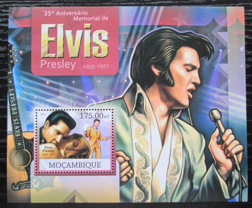 Poštovní známka Mosambik 2012 Elvis Presley Mi# Block 662 Kat 10€