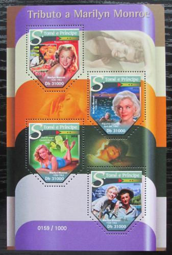Poštovní známky Svatý Tomáš 2015 Marilyn Monroe Mi# 6470-73 Kat 12€