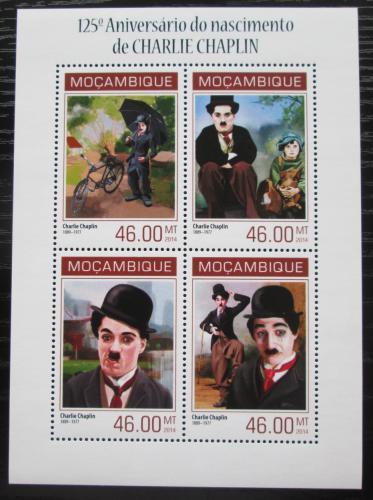 Poštovní známky Mosambik 2014 Charlie Chaplin Mi# 7115-18 Kat 11€
