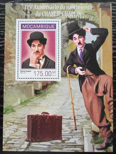 Poštovní známka Mosambik 2014 Charlie Chaplin Mi# Block 863 Kat 10€