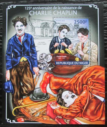 Poštovní známka Niger 2014 Charlie Chaplin Mi# Block 278 Kat 10€