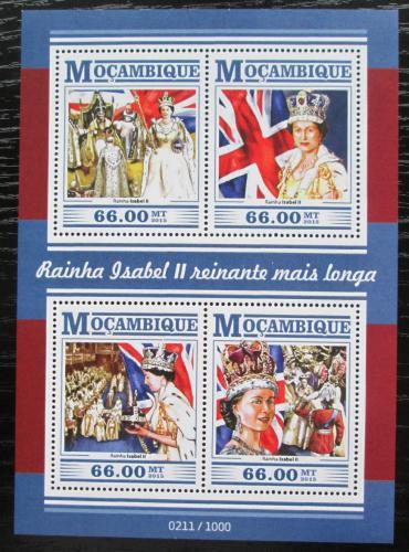 Poštovní známky Mosambik 2015 Královna Alžbìta II. Mi# 8114-17 Kat 15€