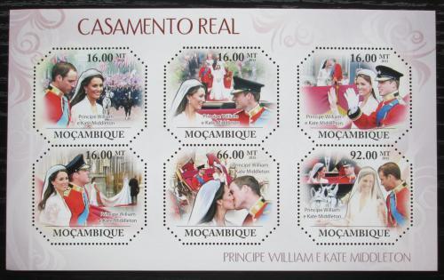 Poštovní známky Mosambik 2011 Královská svatba Mi# 4812-17 Kat 12€