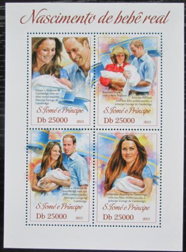Poštovní známky Svatý Tomáš 2013 Narození prince George Mi# 5161-64 Kat 10€