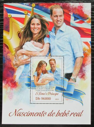 Poštovní známka Svatý Tomáš 2013 Narození prince George Mi# Block 892 Kat 10€
