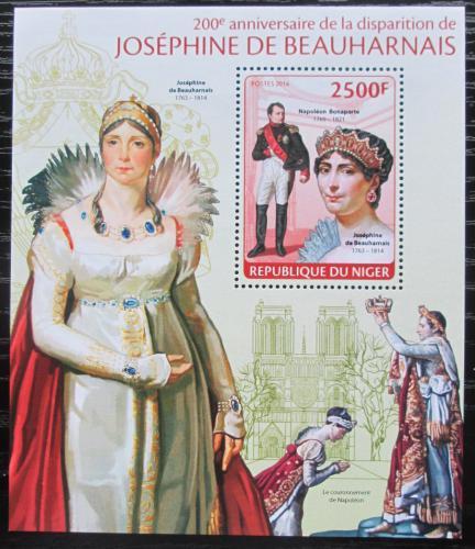 Poštovní známka Niger 2014 Joséphine de Beauharnais Mi# Block 277 Kat 10€