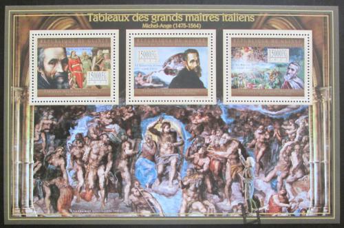 Poštovní známky Guinea 2012 Umìní, Michelangelo Buonarroti Mi# 9448-50 Kat 18€