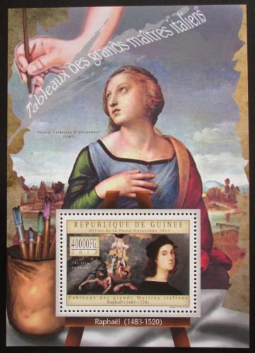 Poštovní známka Guinea 2012 Umìní, Raffael Mi# Block 2152 Kat 16€