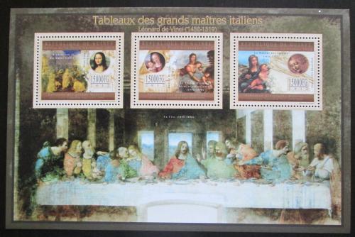 Poštovní známky Guinea 2012 Umìní, Leonardo da Vinci Mi# 9654-56 Kat 18€