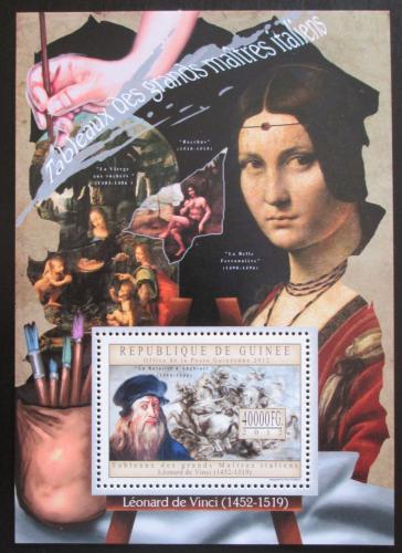 Poštovní známka Guinea 2012 Umìní, Leonardo da Vinci Mi# Block 2189 Kat 16€