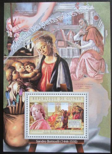 Poštovní známka Guinea 2012 Umìní, Sandro Botticelli Mi# Block 2190 Kat 16€