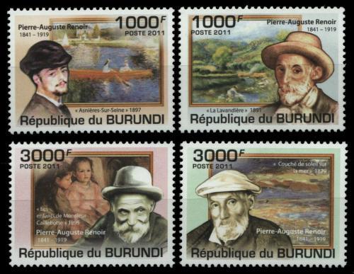 Poštovní známky Burundi 2011 Umìní, Pierre-Auguste Renoir Mi# 2130-33 Kat 9.50€