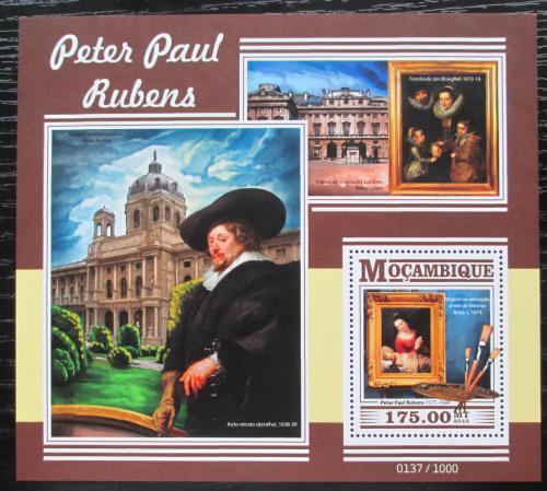 Poštovní známka Mosambik 2015 Umìní, Peter Paul Rubens Mi# Block 1078 Kat 10€