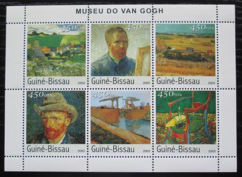 Poštovní známky Guinea-Bissau 2003 Umìní, Vincent van Gogh Mi# 2688-93 Kat 10€
