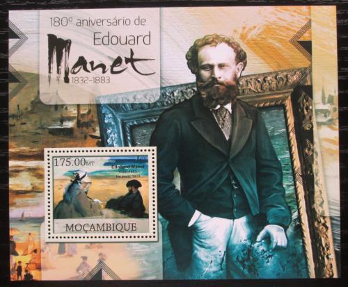 Poštovní známka Mosambik 2012 Umìní, Édouard Manet Mi# Block 648 Kat 10€