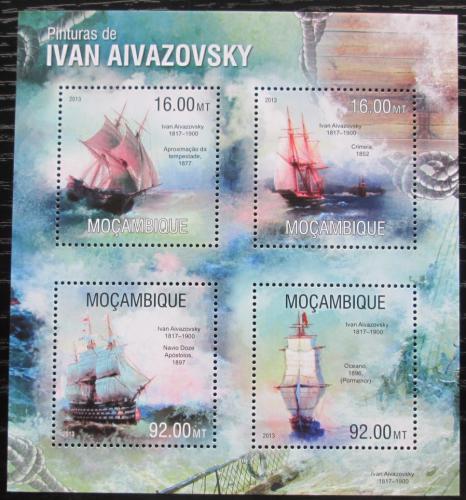 Poštovní známky Mosambik 2013 Umìní, Ivan Ajvazovskij Mi# 6757-60 Kat 13€
