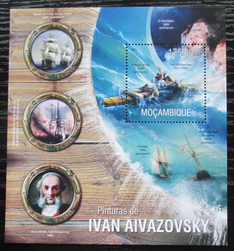 Poštovní známka Mosambik 2013 Umìní, Ivan Ajvazovskij Mi# Block 791 Kat 10€