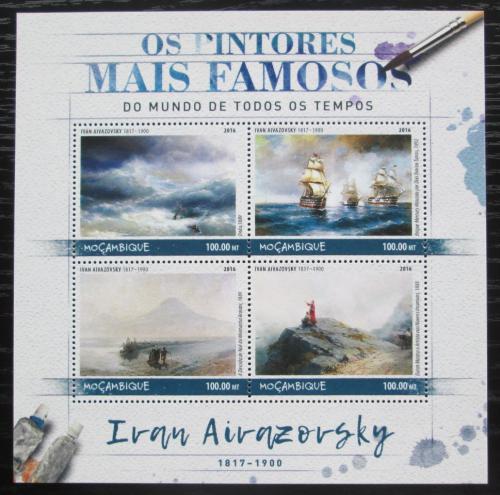 Poštovní známky Mosambik 2016 Umìní, Ivan Ajvazovskij Mi# 8984-87 Kat 22€