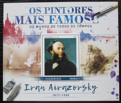 Poštovní známka Mosambik 2016 Umìní, Ivan Ajvazovskij Mi# Block 1237 Kat 20€