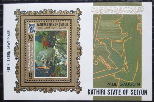 Poštovní známka Aden Kathiri 1967 Umìní, Paul Gauguin Mi# Block 3 A Kat 16€