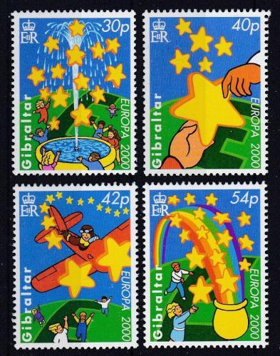 Poštovní známky Gibraltar 2000 Evropa CEPT Mi# 905-08 Kat 7.50€