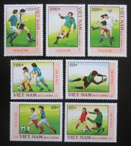 Poštovní známky Vietnam 1989 MS ve fotbale Mi# 2080-86