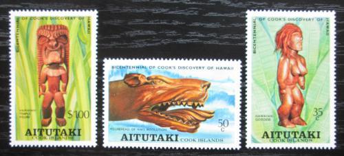 Poštovní známky Aitutaki 1978 Døevoøezby Mi# 286-88