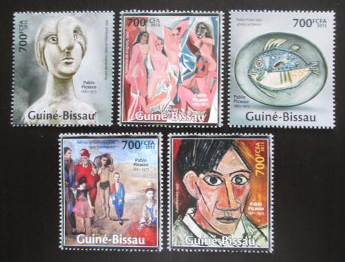Poštovní známky Guinea-Bissau 2013 Umìní, Pablo Picasso Mi# 6760-64 Kat 14€