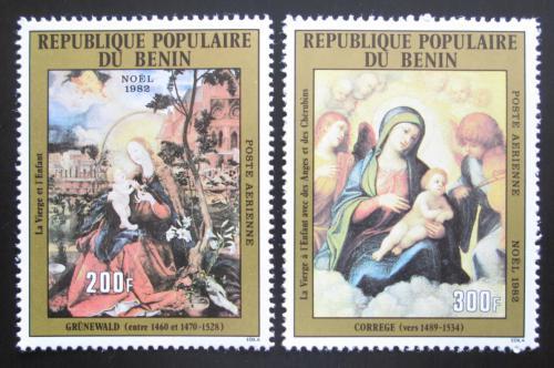 Poštovní známky Benin 1982 Umìní, vánoce Mi# 304-05 Kat 6€