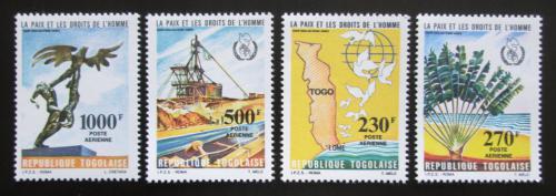 Poštovní známky Togo 1985 Mír a lidská práva TOP SET Mi# 1846-49 Kat 19€